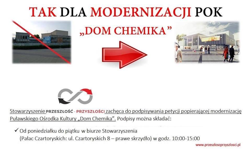 """Tak dla modernizacji POK """"Dom Chemika"""" – złóż swój podpis"""
