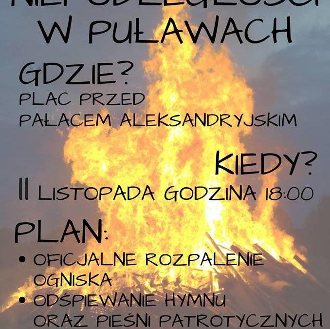 Ogień Niepodległości w Puławach