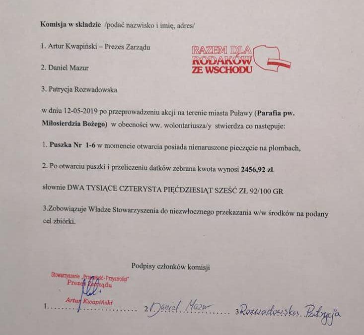Kwestujemy w parafii Miłosierdzia Bożego w Puławach
