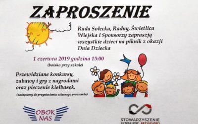 Piknik z okazji Dnia Dziecka w Woli Osińskiej