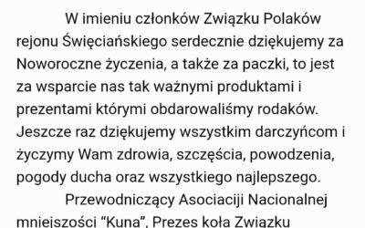 Podziękowania z Litwy