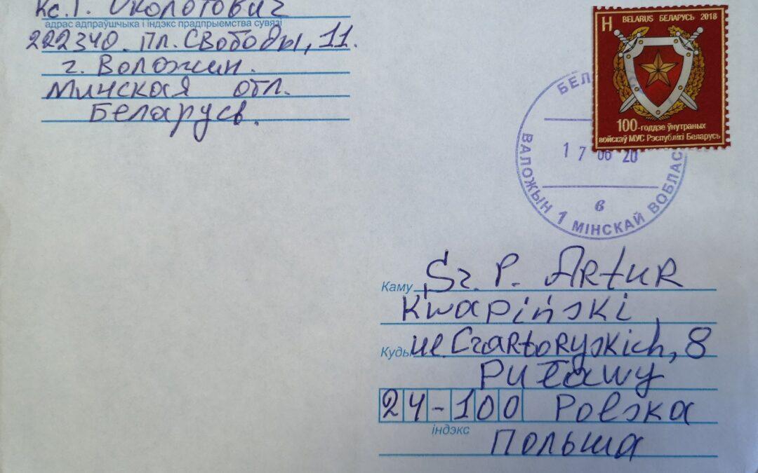 Podziękowanie z Białorusi