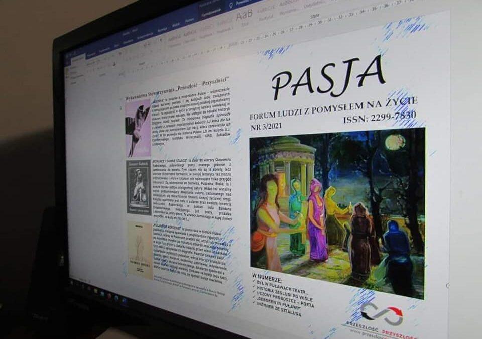 Prace nad pismem PASJA